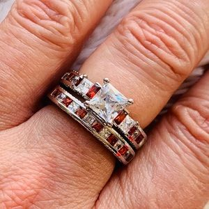 Jewelry - 925 Sterling Silver Genuine 1.5ct Ruby Ring